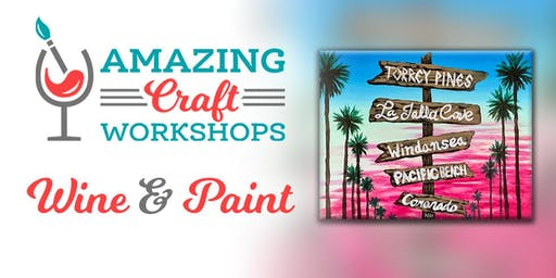 Wine & Paint Workshop - San Diego Tiki Painting!