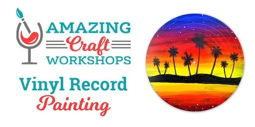 Wine & Paint Workshop - Vinyl Records!