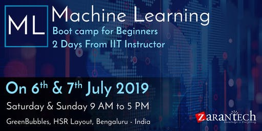 Machine Learning Bootcamp - for Beginners and Freshers