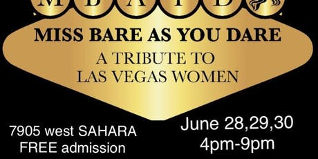 """Miss Bare As You Dare """" Tribute to Women"""" by Chef Evadney Hyatt: adm FREE tickets"""