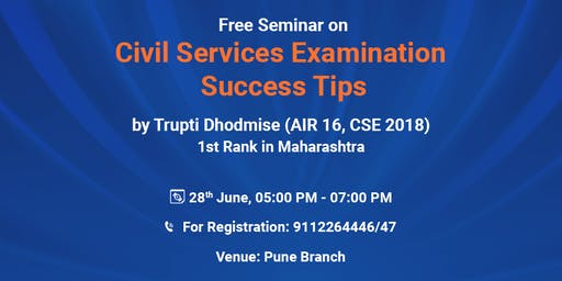 Exclusive Topper's Talk in Pune by Successful Candidate of CSE 2018