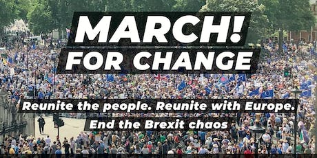 March for Change in London, 20 July 2019 - Coaches from Bath tickets