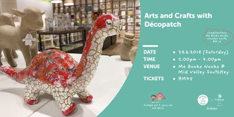 Arts & Crafts with Décopatch @ MidValley SouthKey tickets
