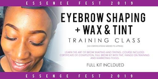 Eyebrow Shaping Training at Essence Fest 2019