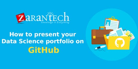 How to present your data science portfolio on GitHub (FREE Online Webinar) tickets
