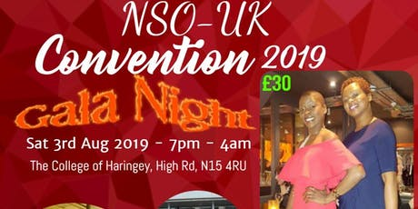 BIGGEST AFRICAN EVENT IN LONDON - NSO UK GALA NIGHT tickets