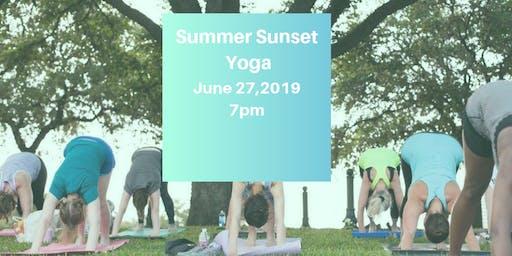 Summer Sunset Yoga and Aromatherapy