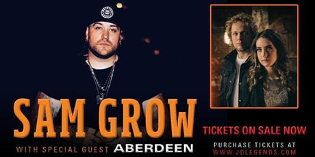 Sam Grow with Aberdeen tickets