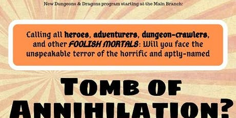 D&D Adventure: Tomb of Annihilation tickets
