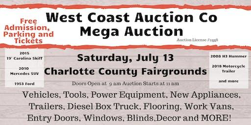 West Coast Auction  Free Entry,Appliances, Vehicles  & more - Mega Auctio