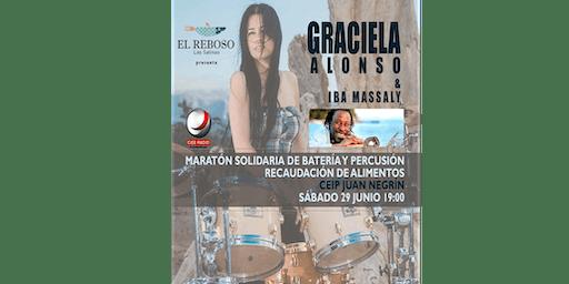 Maratón Solidario de Batería y Percusión con Graciela Alonso e Iba Massaly