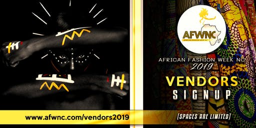 African Fashion Week NC - 2019 AfroMarket Vendor Ticket