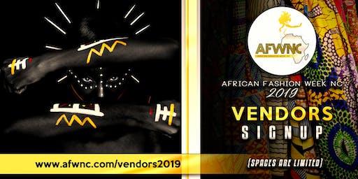 African Fashion Week NC - 2019 AfroMarket Vendor Ticket