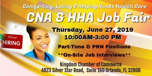 Home Health Care Certified Nursing Assistants and Home Health Aide Job Fair