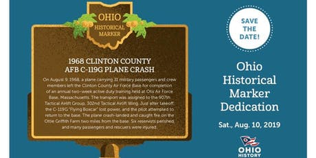 Historical Marker Dedication: 1968 Plane Crash tickets