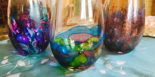 Wine & Art Wednesday: Alcohol Ink Wineglasses