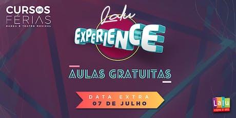 Lalu Experience 2 - Aulas Experimentais dos Cursos de Férias da Lalu ingressos