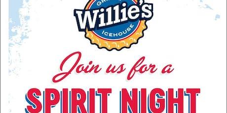 Willie's Grill & Ice House Spirit Night tickets