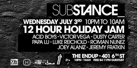 Substance Holiday Jam! tickets