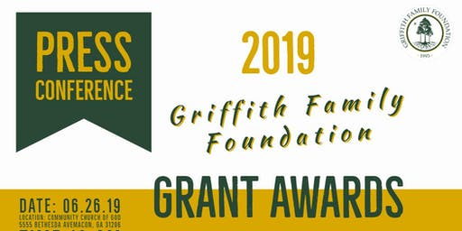 2019 Griffith Family Foundation Grant Awards Press Conference