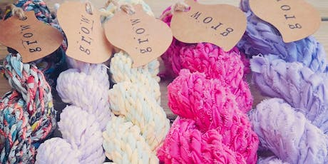 Drop Spindle Workshop - making yarn by recycling fabric tickets