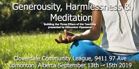 Edmonton Vipassana Retreat with Howard Cohn September 13-15th 2019 tickets
