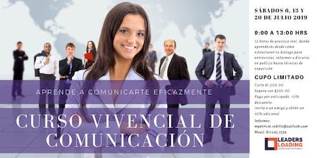 Curso vivencial de comunicación, aprende a comunicarte eficazmente! boletos