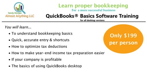 QuickBooks® Basics Desktop Software Training