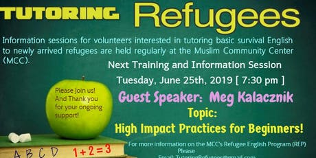 Tutoring Refugees Training/Information Session tickets