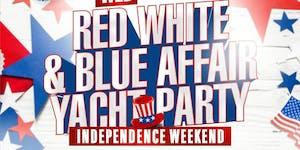 DJ HOTROD RED WHITE & BLUE AFFAIR YACHT PARTY