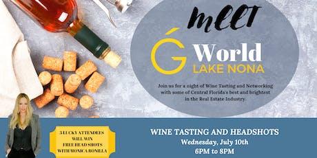 Meet G World Lake Nona - Wine Tasting and Headshots tickets