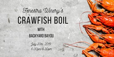 Crawfish Boil at Fenestra Winery
