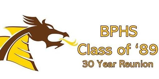 BPHS Class of '89 30th Reunion