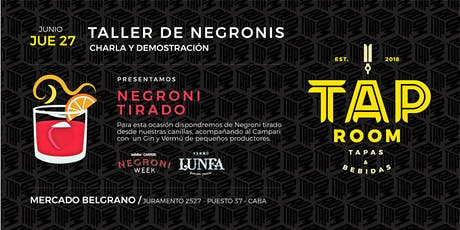 Taller de Negronis en el Mercado de Belgrano tickets
