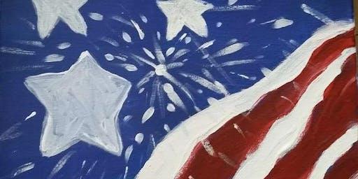 """Pour & Paint """"American Flag"""""""