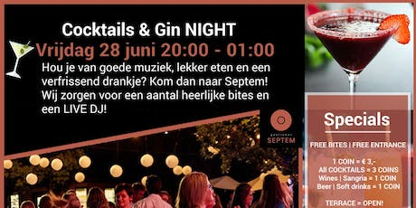 Cocktails & Gin tickets