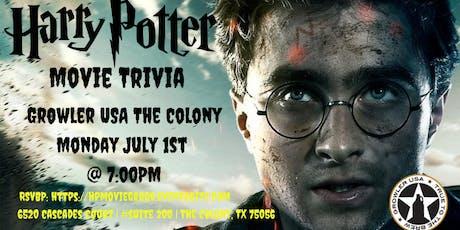 Harry Potter (Movie) Trivia at Growler USA The Colony tickets