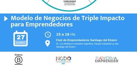 Taller: Modelo de negocios de triple impacto para emprendedores entradas
