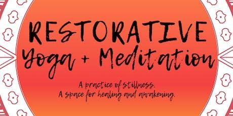 Restorative Yoga + Meditation tickets