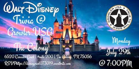 Disney Movie Trivia at Growler USA The Colony tickets