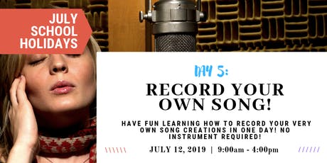 Record Your Own Song! | JULY School Holidays at The Sydney Voice Studio tickets