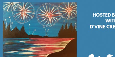 "Paint Night: ""Fireworks over the River"" tickets"