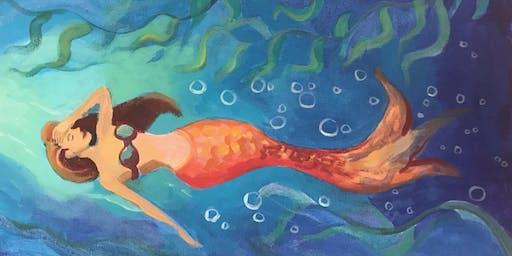 """Pour & Paint """"Mermaid"""""""