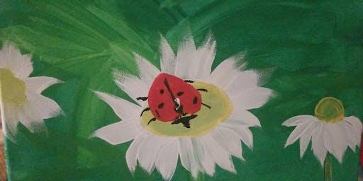 """Pour & Paint """"Ladybug"""""""