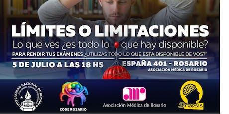 Comunidad UNR Rosario, charla sobre... Límites o limitaciones? entradas