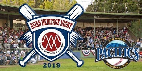 Asian Heritage Night with the Pacifics (sponsored by MCCA) tickets