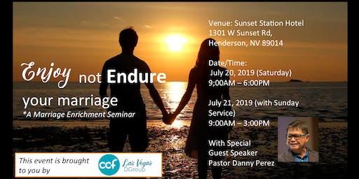 ENJOY, Not ENDURE Your Marriage!
