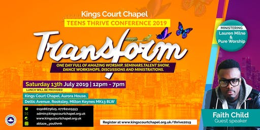 KCC Teens Thrive Conference 2019