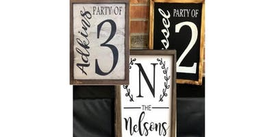 Craft Night, Create Your Own Family Wood Frame
