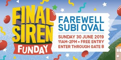 The Final Siren: Farewell Subi Oval tickets